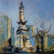 Indy Circle Monument Print by Donna Shortt