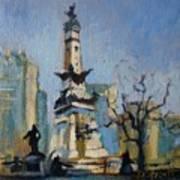 Indy Circle Monument Art Print by Donna Shortt