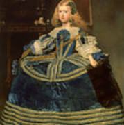 Infanta Margarita Teresa In A Blue Dress Art Print