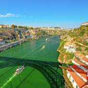 Infante Bridge Oporto Art Print