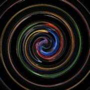 Infinite, Ever Expanding Image. Colorful And Classic Spiral Digital Art That Can Enhance Your Mood. Art Print