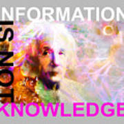 Information Is Not Knowledge Art Print