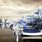 Infrared Boats At Lbi Print by John Rizzuto
