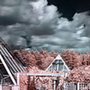 Infrared Glass Pyramids Panorama Art Print