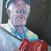 Inis Mor Accordian Player Art Print