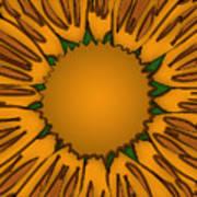 Ink Sunflower Art Print