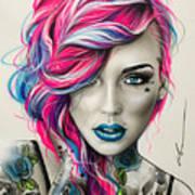 Inked Neon Art Print