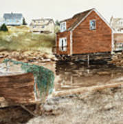 Inlet At Peggy's Cove Art Print
