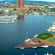 Inner Harbor Baltimore Panorama Art Print