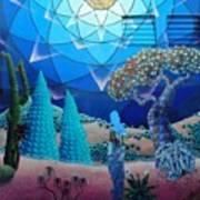 Inner Space-art On A Wall.  Art Print