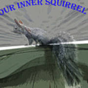 Inner Squirrel Art #1 Art Print