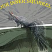 Inner Squirrel Art #2 Art Print