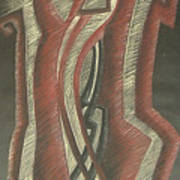 Inner Turmoil  Original Art Print