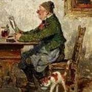 Innkeeper With A Cat Art Print
