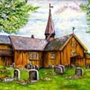 Innset Kirke -- Norway Art Print