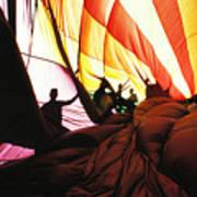 Inside A Hot Air Balloon Art Print