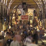 Inside Istanbuls Grand Bazaar Art Print