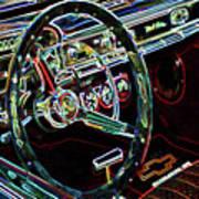 Inside Of A Classic Car Art Print