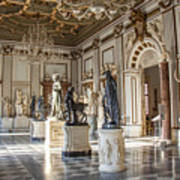 Inside One Of The Rooms Of The Capitoline Museums In Rome, Italy  Art Print