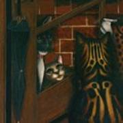 Inside Outside Cats Art Print