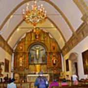 Inside Sanctuary At Carmel Mission-california  Art Print