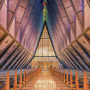 Inside The Cadet Chapel Art Print