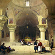 Inside The Church Of The Holy Sepulchre In Jerusalem Art Print