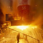Inside The East-slovakian Steel Mill Art Print