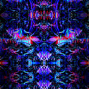 Inside The Electric Temple After Nightfall Art Print