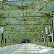Inside The Falls Bridge - Winter Art Print
