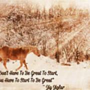 Inspirational Quote Horse Photo Art Print