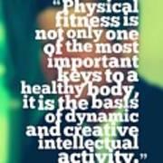 Inspirational Quotes - Motivational - John F. Kennedy 3 Art Print
