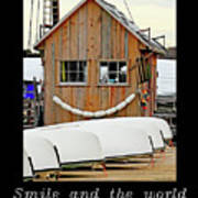 Inspirational- The World Smiles With You Art Print