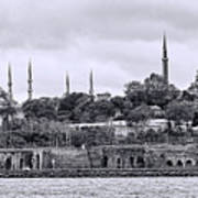 Instanbul In Black And White Art Print