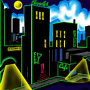 Intensecity Neon Nights Art Print