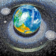Interactive Space Art Print