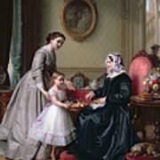 Interior At 'the Chestnuts' Wimbledon Grandmother's Birthday Art Print