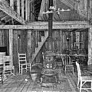 Interior Criterion Hall Saloon - Montana Territory Art Print by Daniel Hagerman
