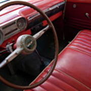 Interior Of A Classic American Car Art Print by Sami Sarkis