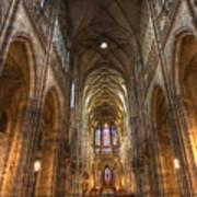Interior Of Saint Vitus Cathedral Art Print