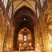 Interior Of Strasbourg Cathedral Art Print