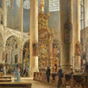 Interior Of The Franciscan Church Salzburg Art Print