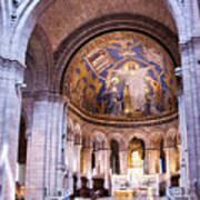 Interior Sacre Coeur Basilica Paris France Art Print