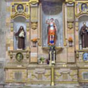 Interior View Of Church In Guanajuato Mexico Art Print