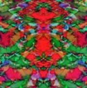 Interlocking Ghosts Red Art Print