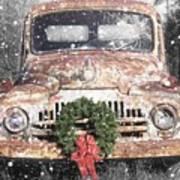 International Christmas Snow Art Print