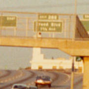 Interstate 44 West At Exit 287, Kingshighway Exit, 1980 Art Print