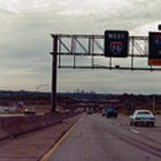 Interstate 70 West At Exit 8b, Interstate 435 North Exit, 1987 Art Print