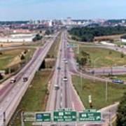 Interstate 74 West At Exit 95b, Route 116 East Exit, 1975  Art Print