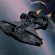 Interstellar Spacecraft Art Print
